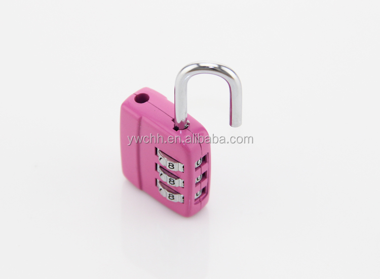 Digital combination padlock for zipper travel luggage lock