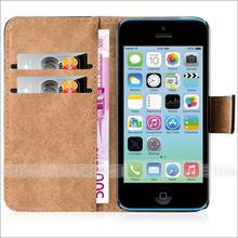 pu leather case for iphone 5c case, stand function wit wallet case for apple iphone 5c cover