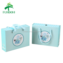 2017 most popular hot sale elegant nice printed light blue luxury fancy beautiful wholesale universal door gift box for wedding