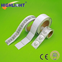 Highlight RL044s retail strore products security 4*4 square adhesive eas paper label