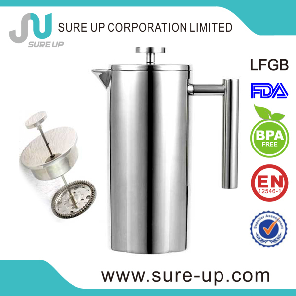 Dubai double wall stainless steel french coffee press (OSUN)