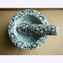 2017 New food grade polished granite stone mortar and pestle set black marble