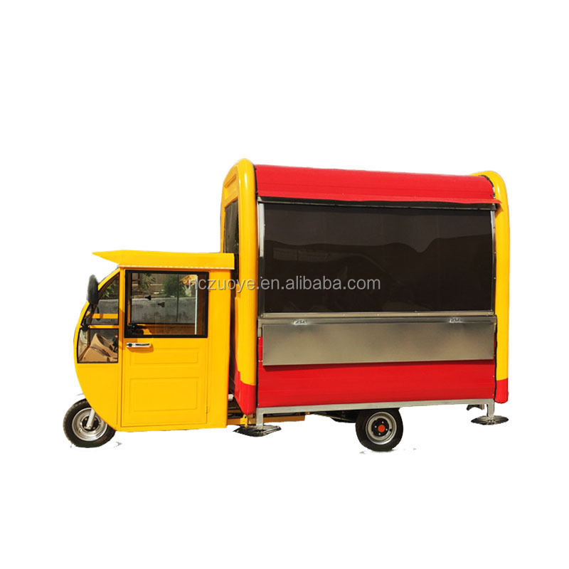 Mobile Electric Tricycle Snack Car Food Cart food vending carts for sale