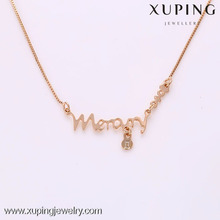 41937 -Xuping Baby gifts kids pendant necklace gold with name