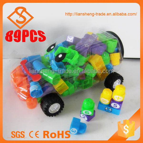 Hot sale christmas gifts 89pcs plastic diy toys set for education