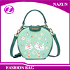 custom shopping travelling sports designer cartoon printing makeup leather shoulder bag for girl