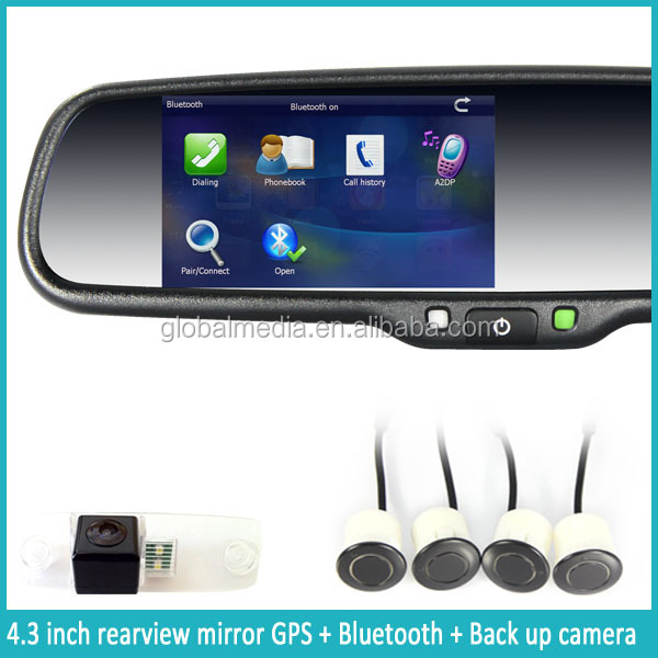 the world best seller rearview mirror with gps bluetooth camera google map