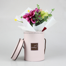 Round flower packaging paper box