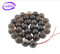 4 6 8 10 12 14 16mm wholesale round loose semi gemstone brown quartz strand