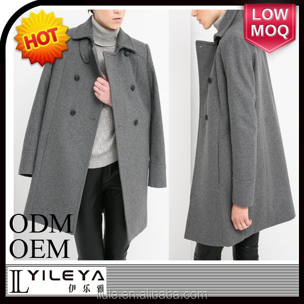 elegant fashionable grey women model coat