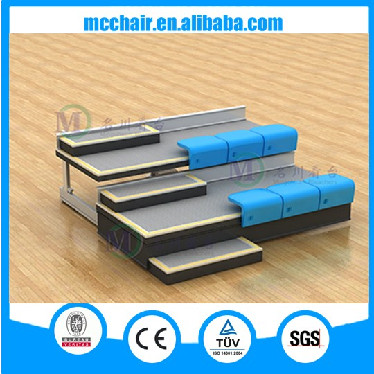 Mars telescopic bleachers adult soccer chair automatic bleacher portable grandstand retractable bleacher for audience seating