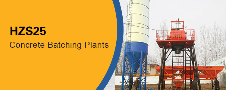 HZS25 Central Precast Wet Mix Concrete Batching Plant Price