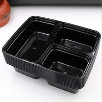 3 Compartment Plastic Microwave Usage Disposable