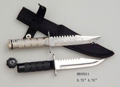small survival knife with Nylon pouch