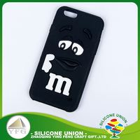Long working life custom amusing logo silicone cell phone case cover