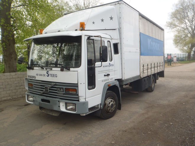 left hand drive volvo fl6 curtain box