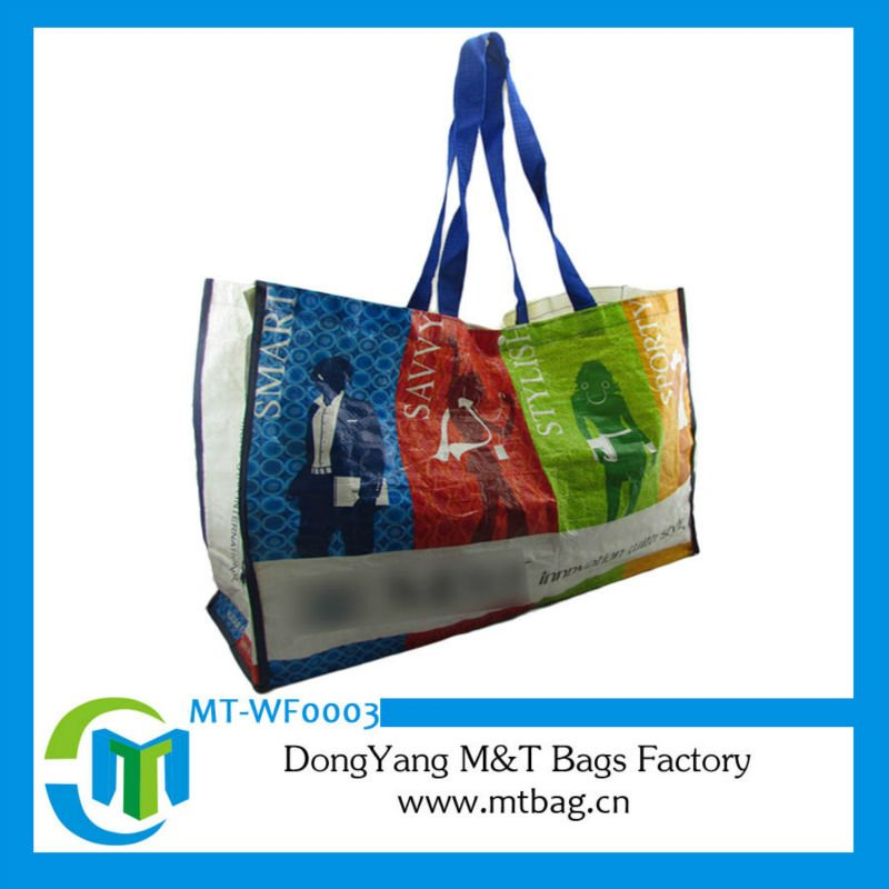 Coated pp woven polypropylene bags full color printing