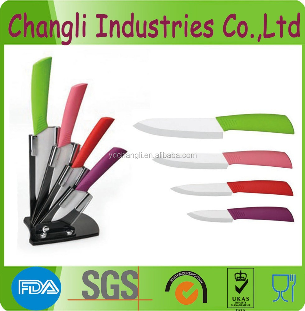 High quality cheap ceramic kitchen knife set