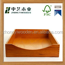 hot 2016 year factory suppliers sale ISO9001&FSC&SA8000 handmade vintage light oak wooden dovetail paper fruit tray