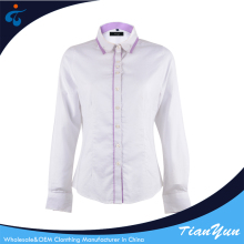 Modern design wholesale comfortable breathable office wear blouse ladies
