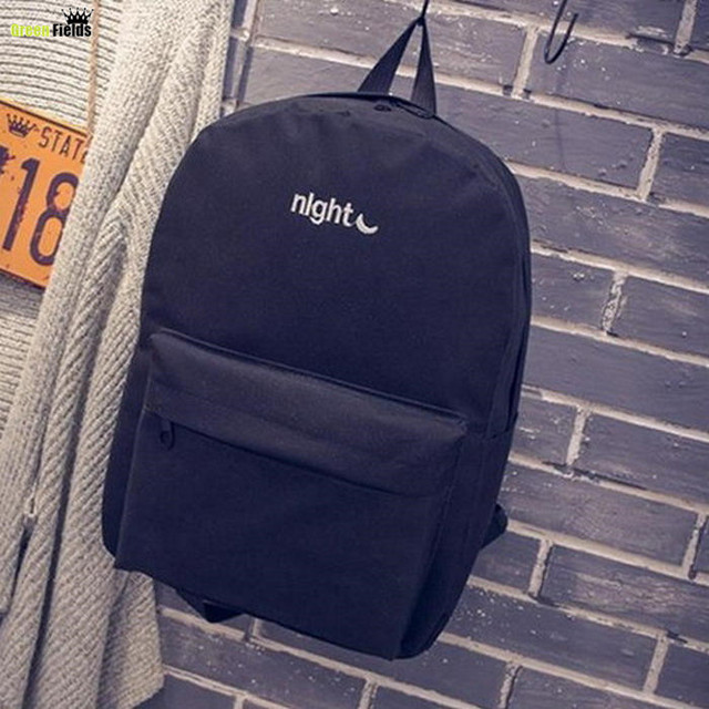 Fashion Day and night Embroidery lovers Backpacks Canvas Men Women School Bag For Teenagers Student Book Bags Mochila Bag XA860B