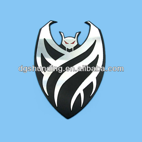 Diamond cut aluminum animal sign plate in black painted