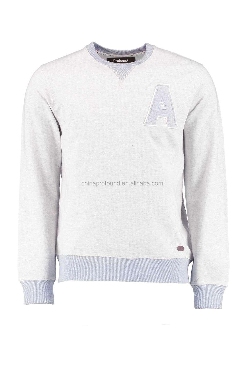 High quality cotton french terry comfort color mens sweatshirts hoodies, custom crewneck pullover no hood sweatshirt