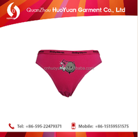 Very hot selling smooth touch feeling fashion cheeky panties with young girls women ladies wholesale.cheap pric huoyuan