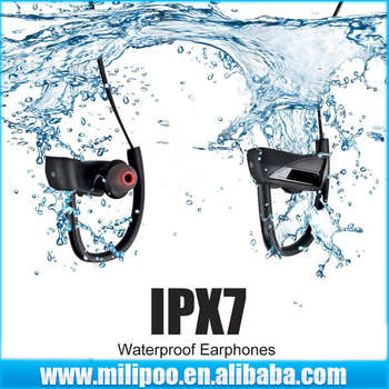 Waterproof Bluetooth Headphones, IPX7 Sweatproof Wireless Earphones 4.1 with Mic Sport Stereo Headset, Noise Cancelling Earbuds