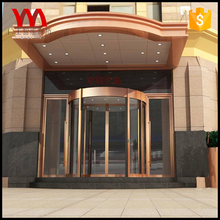 Luxury customize automatic 2 wings hotel entrance revolving door