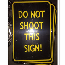 embossed outdoor large metal warning sign board