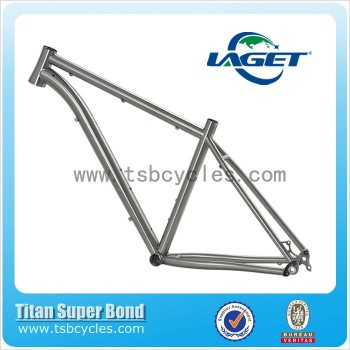 Hot sale 29er post mount thru axle titanium mtb bike frame TSB-MT602