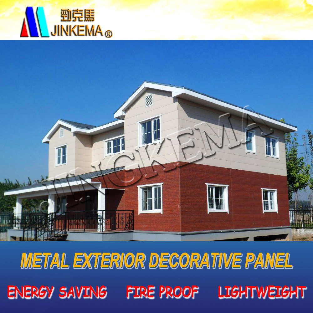 modern decorative exterior wall siding panels for steel structure prefabricated houses, buildings, villas