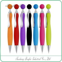 6 for exhibition promotion simply designed click plastic pens 2016