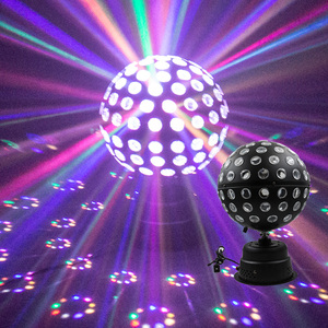Large crystal ball stage lighting night club ktv bar disco light rotating 360 degree no dark