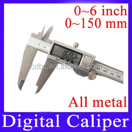 150mm stainless steel digital electronic vernier calipers