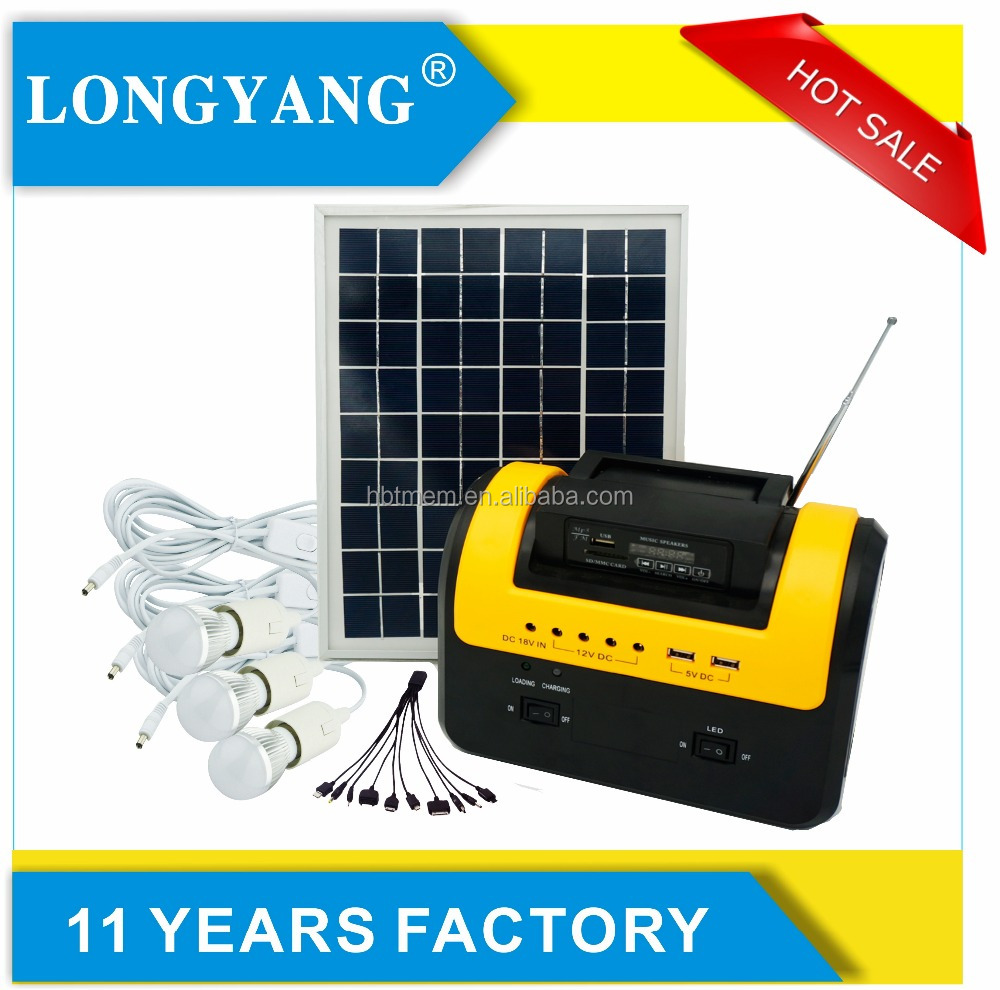 30W Solar dc home systems 12V Radio and MP3 solar power led street light 10w
