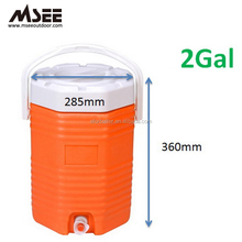 New product 2Gallon plastic cooler jug for drink,tea, wine,water