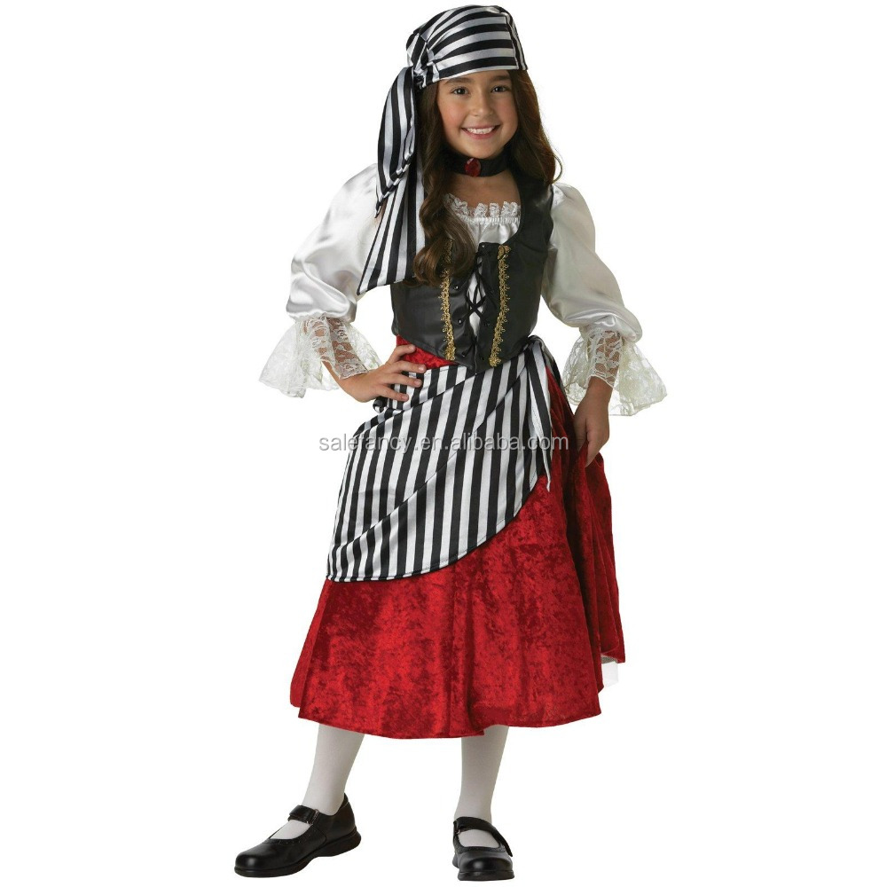 rebel pirate girl costume used halloween costumes sale for kids QBC-8606