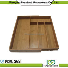 Antibacteria Factory expandable bamboo cutlery box