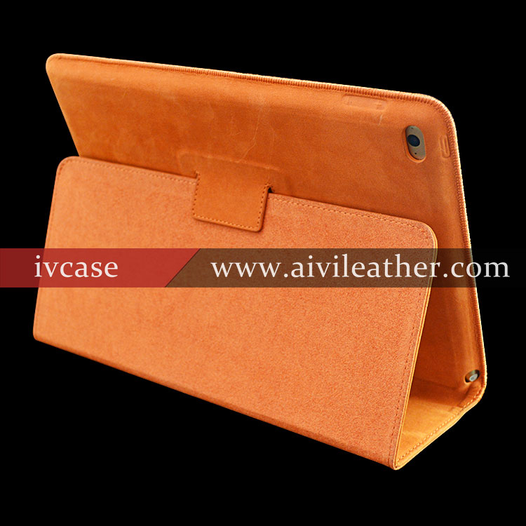 Smooth Touching Genuine Leather Case For Ipad Air With Stand Up Function , For Custom Ipad Case
