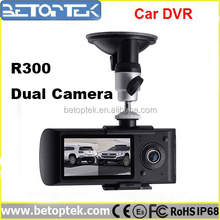 2.7inch Dual camera r300 manual car camera hd dvr