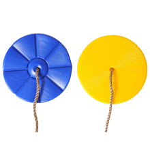 Favorable Comments New Design Outdoor Indoor My Test Children Garden Plastic Disc Swing with nylon rope