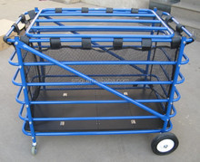 Steel Basketball Locker Cart With Net