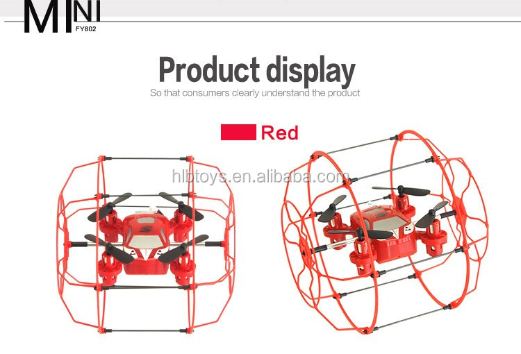 Popular 4CH 2.4GHz Climb RC RTF Quadcopter Drone w 6-Axis Gyro with Football Protective Cover