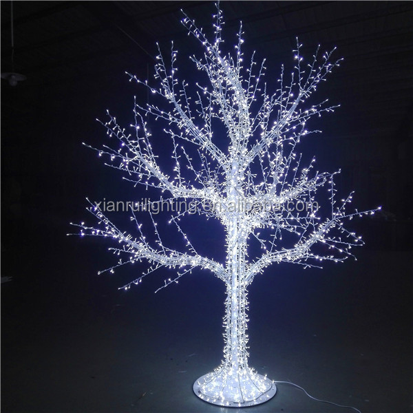 Good quality crystal super bright tree outdoor led falling snow lights