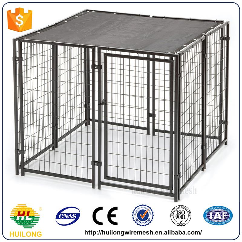 2016 new Easily Assembled Anti-Rust Dog Run Kennelsblack Pet House Pet Cages Huilong factory