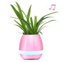 2017 new hot sale mini bluetooth Speaker,mini music flower pot, flower pot speaker