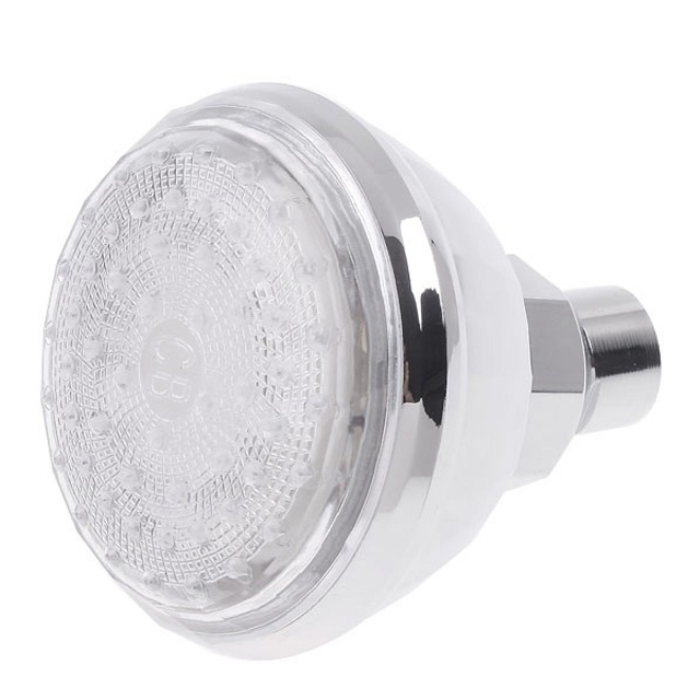 China Supply Chrome Feature Plastic Led Shower Head Rainfall And Kids Shower Head With 3 Colors Changing