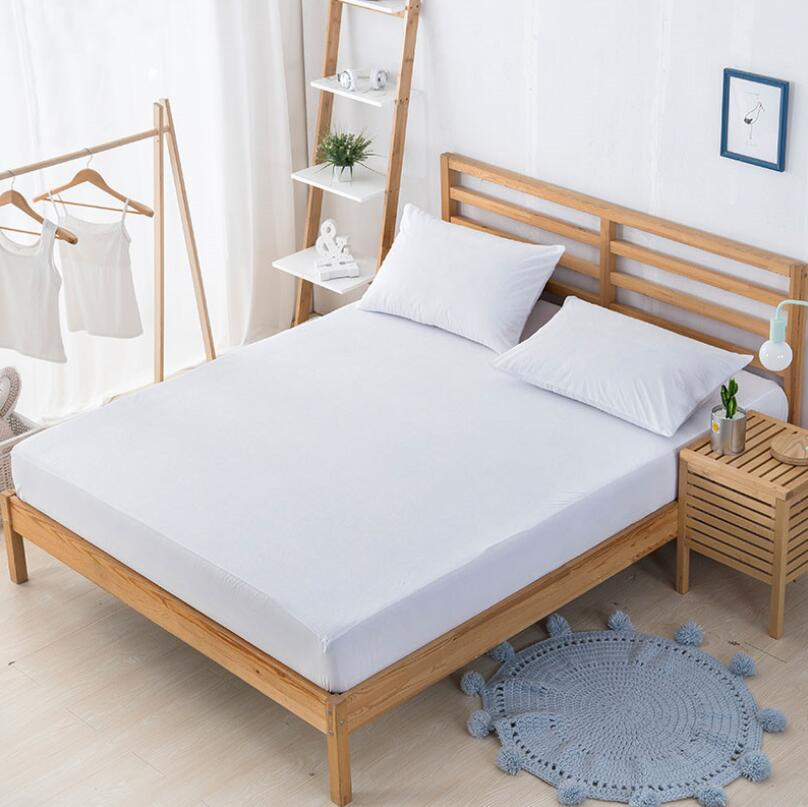 White Waterproof Air-permeable Bed Mattress Protector Cover For Hospital Hotel - Jozy Mattress | Jozy.net